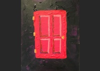 art, painting, acrylic, Geoff Fiorito, Jeff Fiorito, Door For A Dead Child