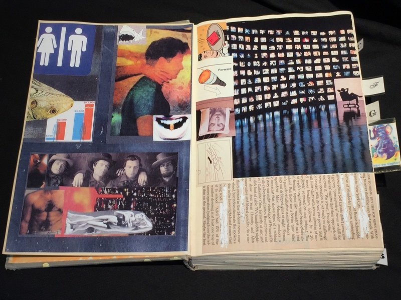 art, book, collage, mixed media, Geoff Fiorito, Jeff Fiorito, Mathematical Statistics
