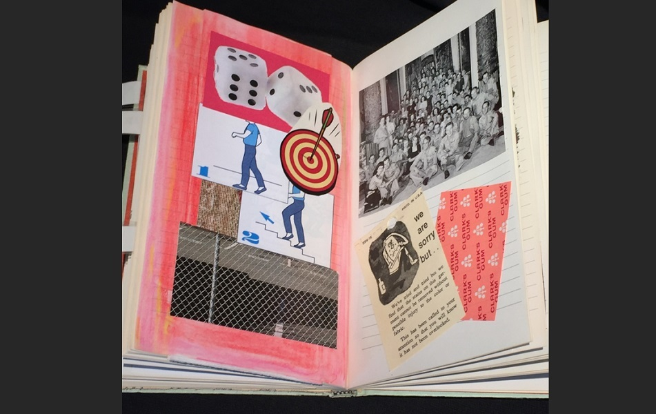 art, book, collage, mixed media, Geoff Fiorito, Jeff Fiorito, Muscae Volitantes